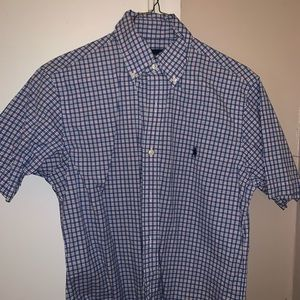 Men's Short sleeve Polo Ralph Lauren Gingham Shirt